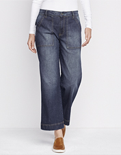 Update your casual wardrobe with these Orvis jeans in a comfortable, cropped wide-leg style.