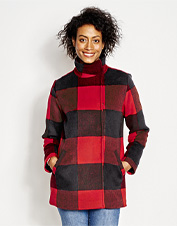 You'll hope for frost on the branches for an excuse to wear this buffalo check Dutton Jacket.