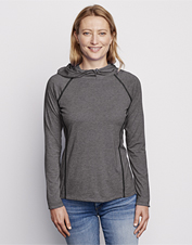 Our Women's drirelease Pullover Hoodie is a smart option for travel, or active days at home.
