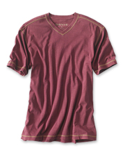 The soft hand of our Montana Morning T-Shirt meets a high V-neck in our update of a favorite.