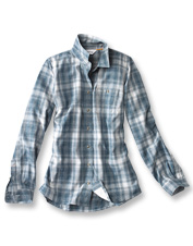 The Tech Chambray Plaid Work Shirt doesn't cast for you—but it does almost everything else.