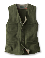 The Trapper Peak Wool Vest does it all: shuns foul weather and presents a polished appearance.