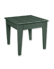This Adirondack side table is made from easy-care POLYWOOD for weather-resistant durability.