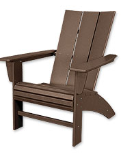 This Adirondack chair and side table are made of eco-friendly POLYWOOD for rugged durability.