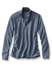 Quarter-zip styling and fleece-lined details make the Shelburne pullover an easy choice.