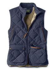 Our wind-blocking Green Mountain Vest is diamond-quilted for warmth and trimmed for style.