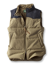 Our Ridgeline Quilted Vest mirrors Alpine ski style with features to block cold and wind.