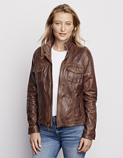 Our Latitude Leather Jacket boasts the ultrasmooth hand of supple sheepskin nappa leather.