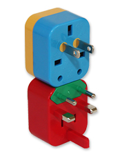 Using your electronics abroad is as easy as plugging in this 4-in-1 Universal Travel Adapter.