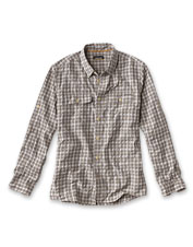 The Clearwater Open Air Plaid Shirt's tech blend fabric keeps you cool on or off the water.
