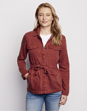 Our Homespun Twill Jacket feels comfortably broken in, thanks to an ultrasoft Tencel® blend.