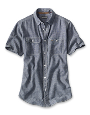 This hemp/cotton blend chambray shirt is a moisture-wicking, odor-blocking, breathable winner.