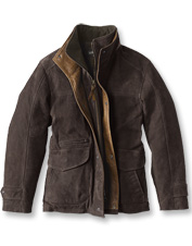 This wind-blocking Yellowstone Leather Jacket balances tough and refined with nubuck calfskin.