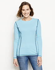 This long-sleeved tee features drirelease for quick-drying, cooling, adventure-ready comfort.
