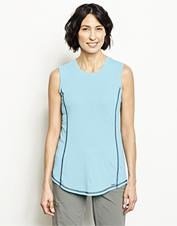This shirt is ready for adventure, in moisture-wicking drirelease and a sleeveless silhouette.
