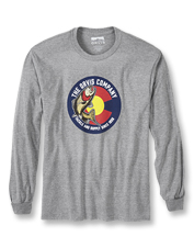 A spunky trout and the Colorado circle emblem brighten this Orvis logo long-sleeved T-shirt.