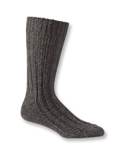 Traditional Irish Donegal wool socks are warm and washable for ease of care.