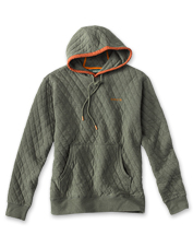 The quilted sweatshirt rises to a new level of comfort in our Trout Bum hooded version.