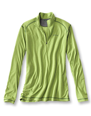 This drirelease shirt offers the comfort of a T-shirt in a cooling quarter-zip style.