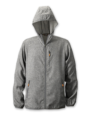 Insect repellent is built into the fabric of this OutSmart Hooded Jacket for bug-free treks.