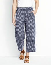 For sophisticated drape in a comfortable style, reach for these Rayon Wide-Leg Cropped Pants.