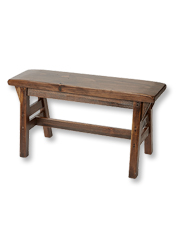Rustic seating isn't only for camp—this pine Country Bench brings a woodsy feel to any room.