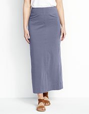 The cool cotton and stretchy jersey knit make this maxi skirt effortless to wear.