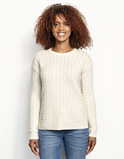 Casual to dressy, our Cashmere Cable Crewneck Sweater is a luxurious wardrobe multi-tasker.