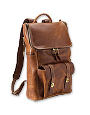 This Americana Leather Ziptop Backpack promises an incredible patina and robust performance.