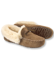 When the temperature drops, warm chilly feet in cozy Orvis Fireside Shearling Moccasins.