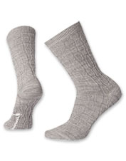 Chainlink Cable Crew Socks by Smartwool wick moisture to keep you dry and comfortable all day.