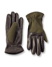 Fend off rough weather in gloves of sturdy Melton wool, soft leather, and luxurious cashmere.