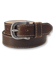 The Tucson Bison Belt is a ruggedly sophisticated leather accent in a rich cognac hue.