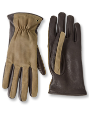 Deerskin and waxed cotton work together in this glove built for weather-resistant performance.