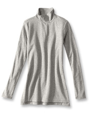 Our Perfect Turtleneck Tunic is an easy layering piece that offers a lavishly soft hand.