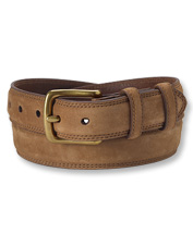 This suede belt pulls double duty: Pair it with casual pants or dress it up as necessary.