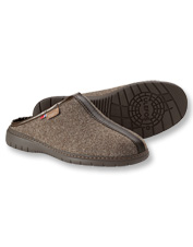 Feel the quality in every step—or admire it with your feet up—in these Topaz Wool Slippers.
