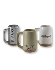 Waking up or winding down, this handmade Orvis Ceramic Stein is the vessel you'll have in hand.