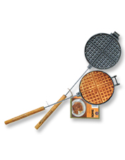 This Chuck Wagon Waffle Iron promises a top-notch breakfast—cooked over the campfire.