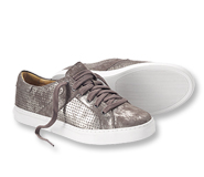 Bring a little shimmer to your step wearing leather-lined Lindsey Metallic Sneakers by Trask.