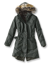 Wind, rain, and snow can't get through the waxed cotton and fleece Fairlead Jacket by Barbour.