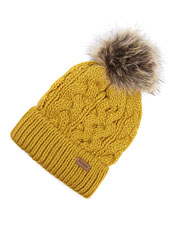 When frost nips at your ears, retain warmth wearing the Penshaw Cable Knit Beanie by Barbour.