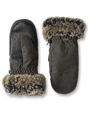 Count on these waterproof waxed cotton mittens from Barbour for snowballs or snowshoeing.