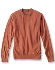 Luxurious silk and cashmere blend with easy cotton in this perfectly casual crewneck sweater.