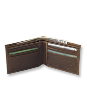 Rich bison leather and a thinfold design make this billfold wallet a top choice for every day.