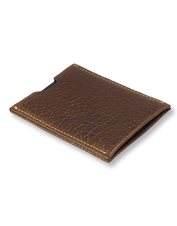 The Tucson Bison Card Holder's rich leather and conservative design lend a sophisticated look.