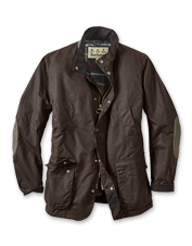Furious weather can't pierce the heavyweight waxed cotton of the Brandreth Jacket by Barbour.