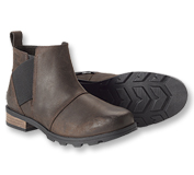 Comfortable, waterproof leather Emelie Chelsea Boots by Sorel take rainy days in stride.