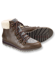 Fuzzy shearling trim means these Harlow Lace Cozy Boots by Sorel look as warm as they feel.