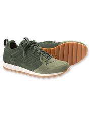 The comfortable Alpine Sneaker by Merrell seamlessly blends retro style with modern innovation.